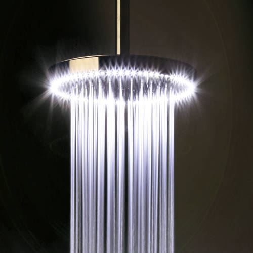 Additional image for Rio White LED Shower Head (240mm diameter).