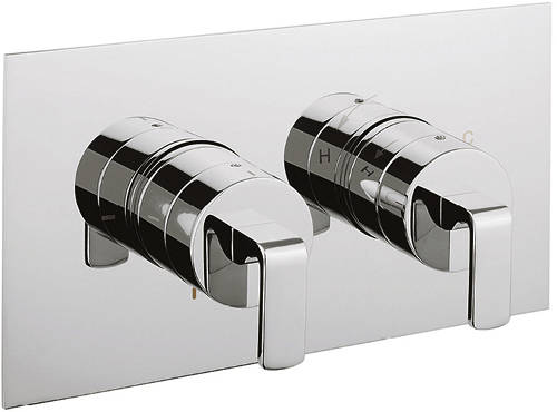 Additional image for Thermostatic Shower Valve With Diverter (2 Outlets).