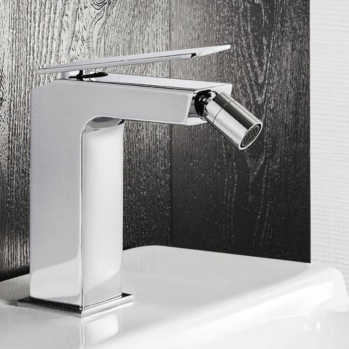 Additional image for Bidet Mixer Tap With Lever Handle & Waste (Chrome).