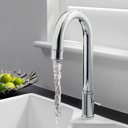 Additional image for Kitchen Tap With Side Lever Handle (Chrome).