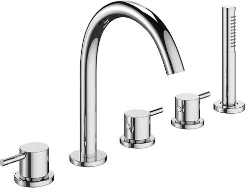 Additional image for Basin & 5 Hole Bath Shower Mixer Tap Pack (Chrome).