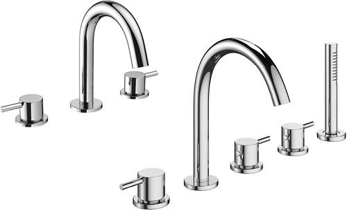 Additional image for 3 Hole Basin & 5 Hole Bath Shower Mixer Tap Pack.