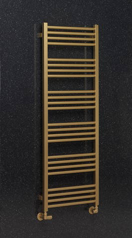 Additional image for Heated Towel Radiator 480x1380mm (B Brass).