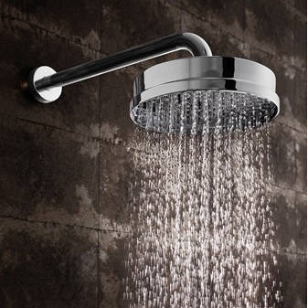 "Additional image for Shower Head 8"" (Chrome)."