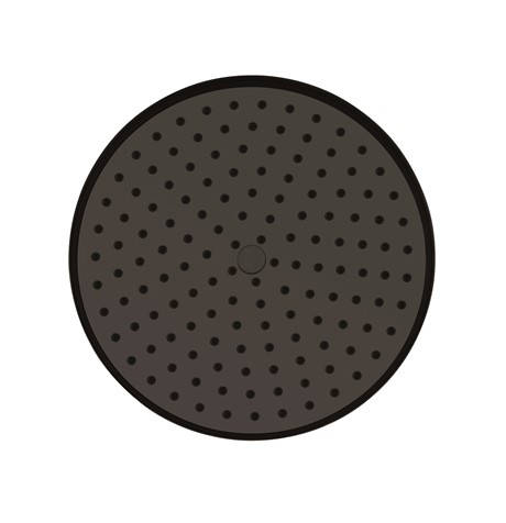 "Additional image for Easy Clean Shower Head 8"" (Carbon Black)."