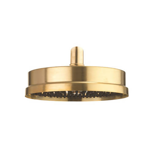 """Additional image for Easy Clean Shower Head 8"""" (Unlacquered Brass)."""