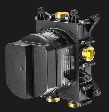 Additional image for Crossbox 2 Outlet Shower Valve (Un Brushed Brass).