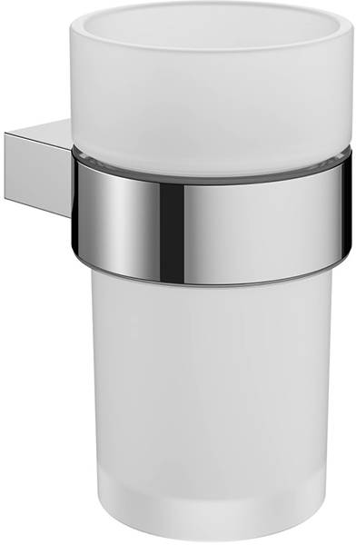 Additional image for Wall Mounted Tumbler & Holder (Chrome).