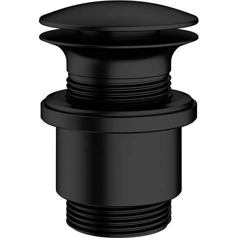 Additional image for Unslotted Click Clack Basin Waste (Matt Black).