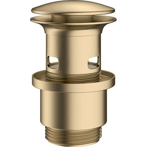 Additional image for Slotted Click Clack Basin Waste (Brushed Brass).