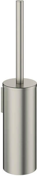 Additional image for Wall Mounted Toilet Brush & Holder (Brushed Steel).