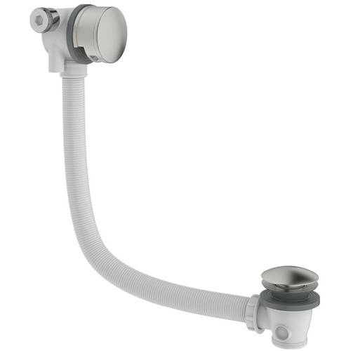 Additional image for Bath Filler Waste With Overflow (Brushed Stainless Steel).