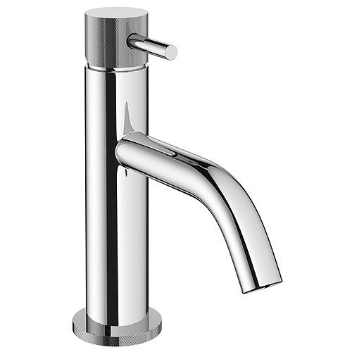 Additional image for Basin Mixer Tap With Knurled Handle (Chrome).