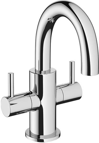 Additional image for Mini Basin Mixer Tap With Lever Handles (Chrome).