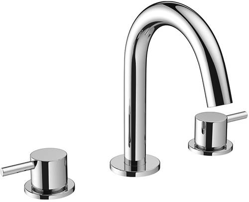 Additional image for Basin Mixer Tap (3 Hole, Chrome).