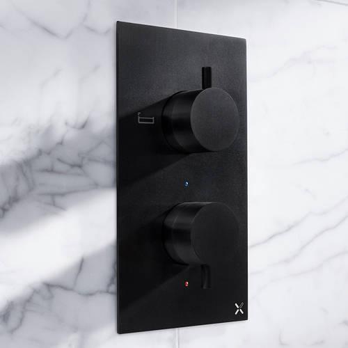 Additional image for Thermostatic Shower Valve (2 Way Diverter, Matt Black).