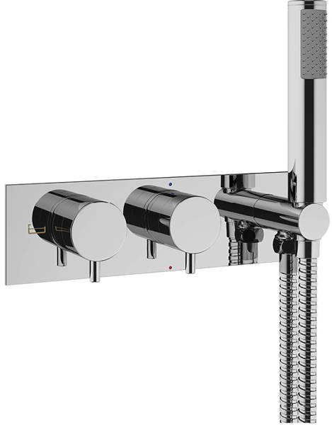 Additional image for Thermostatic Shower Valve With Handset (Chrome).