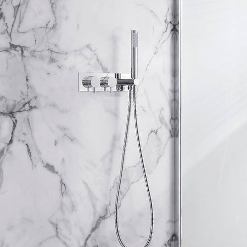 Additional image for Thermostatic Shower Valve With Handset (S Steel).