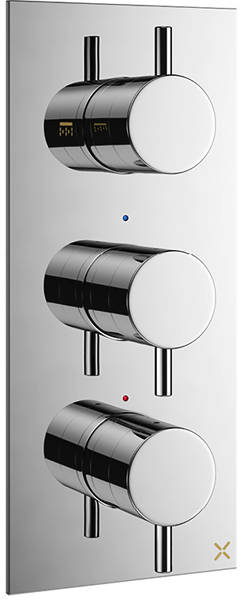 Additional image for Thermostatic Shower Valve With 2 Outlets (3 Handles).