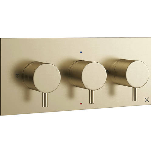 Additional image for Thermostatic Shower Valve With 2 Outlets (B Brass).