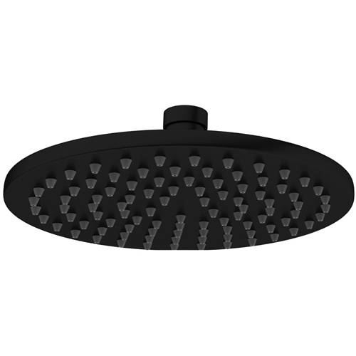 Additional image for Round Shower Head 200mm (Matt Black).