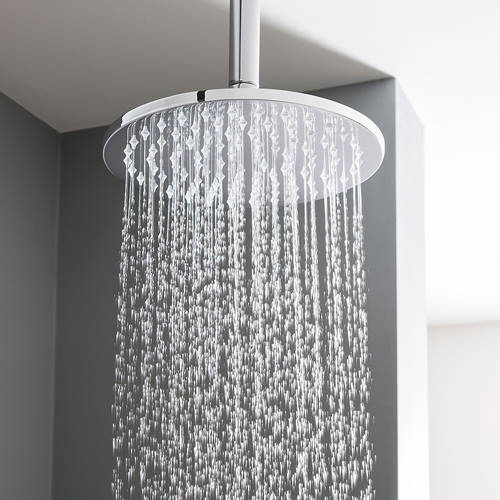 Additional image for Round Shower Head 200mm (Brushed Stainless Steel).