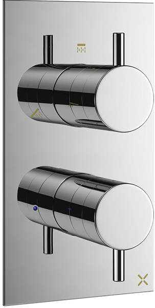 Additional image for Thermostatic Shower Valve With 3 Outlets (2 Handles).