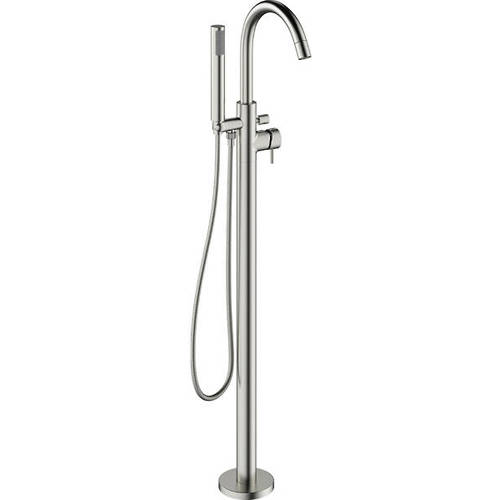 Additional image for Floorstanding Bath Shower Mixer Tap (Brushed Steel).