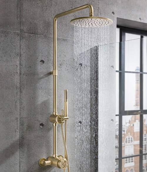 Additional image for Thermostatic Multifunction Shower Set (B Brass).