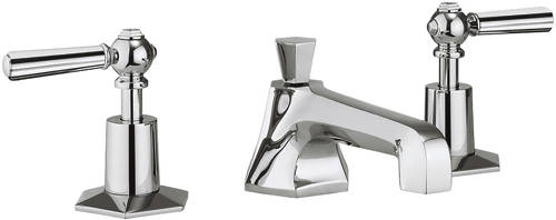 Additional image for 3 Hole Basin Mixer & Bath Filler Taps (Chrome Handles).