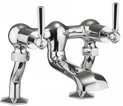 Additional image for 3 Hole Basin Mixer & Bath Filler Tap (Chrome Handles).