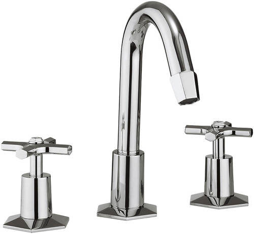 Additional image for 3 Hole Basin Mixer & Bath Filler Tap Pack (Chrome).