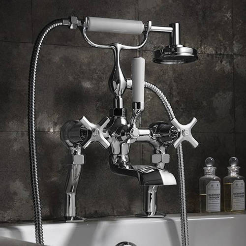 Additional image for Wall Mounted Basin & Bath Shower Mixer Tap Pack.