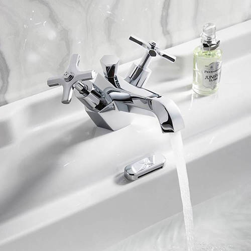 Additional image for Basin Mixer Tap With Crosshead Handles.