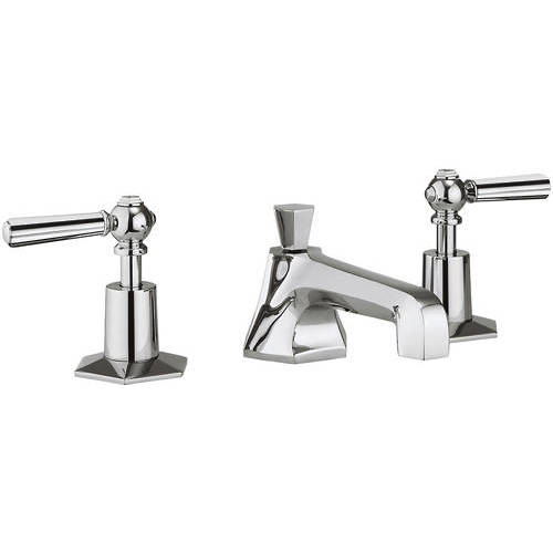 Additional image for 3 Hole Basin Tap With Chrome Lever Handles.