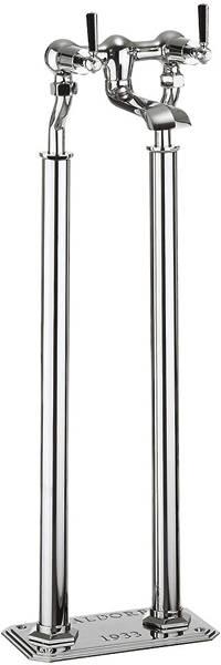 Additional image for Floorstanding Bath Filler Tap With Black Lever Handles.