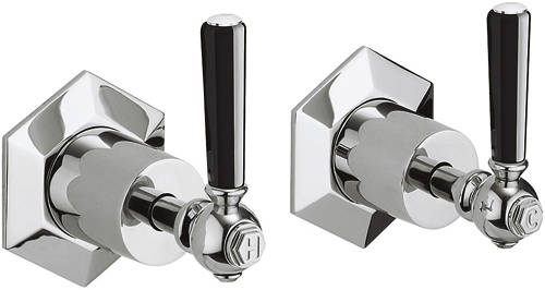 Additional image for Stop Taps With Black Lever Handles.