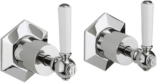 Additional image for Stop Taps With White Lever Handles.
