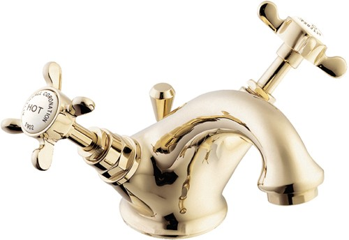 Additional image for Mono Basin Mixer Tap With Pop Up Waste (Gold).