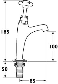 Additional image for BS1010 High Neck Sink Taps (Pair, Chrome)