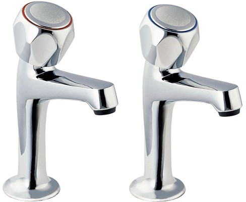 Additional image for High Neck Sink Taps with Round Profile (pair).