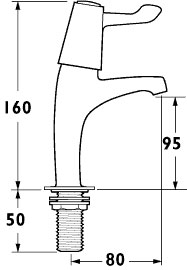 """Additional image for High Neck Sink Taps with 3"""" Levers (pair)."""