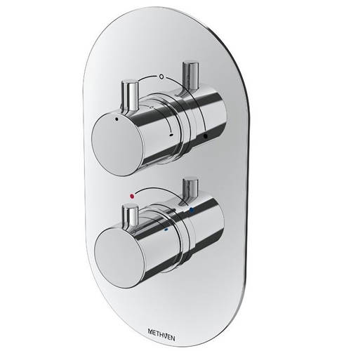Additional image for Kaha Concealed Thermostatic Mixer Shower Valve (Chrome, 2 Outlets).
