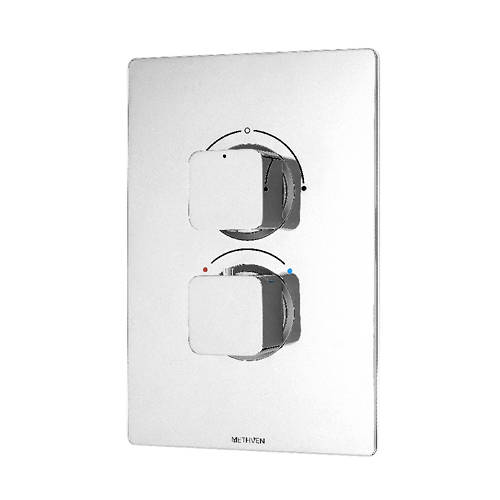 Additional image for Kiri Concealed Thermostatic Mixer Shower Valve (ABS, 2 Outlets).