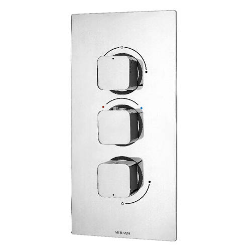 Additional image for Kiri Concealed Thermostatic Mixer Shower Valve (ABS, 3 Outlets).