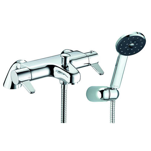 Additional image for Satinjet Thermostatic Bath Shower Mixer Tap With Shower Kit.