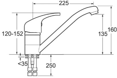 Additional image for Single Lever Kitchen Tap (Chrome).