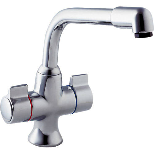 Additional image for Sauris Dual Flow Kitchen Tap, Swivel Spout (Chrome).