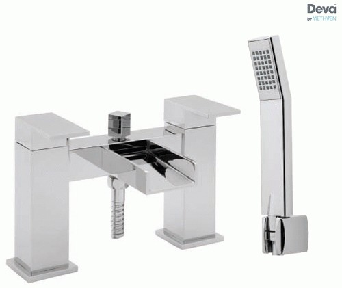 Additional image for Waterfall Bath Shower Mixer Tap With Shower Kit (Chrome).