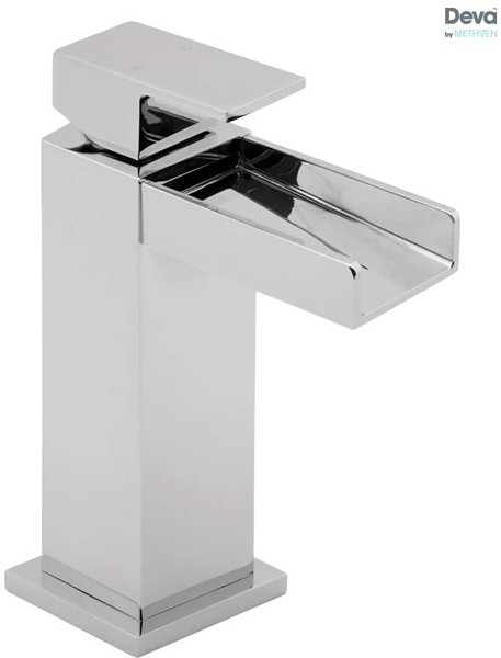 Additional image for Waterfall Mono Basin Mixer Tap With Press Top Waste (Chrome).